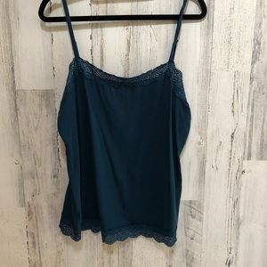 Ann Taylor Lace Edge Tank Top